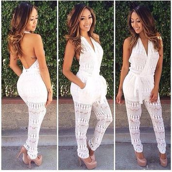 HOT CUTE WHITE JUMPSUIT-1