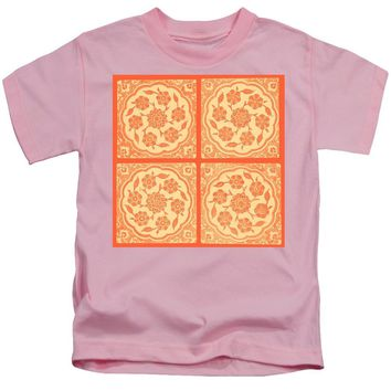 An Ottoman Iznik Style Floral Design Pottery Polychrome, By Adam Asar, No 14g - Kids T-Shirt