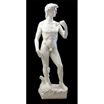 David by Michelangelo Lifesize Garden Statue, 81H - TAL535