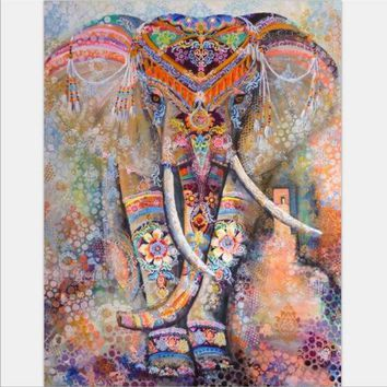 Beach Towel Elephant Tapestry Colored Printed Decorative Mandala Tapestry Indian 130cmx150cm 153cmx203cm Boho Wall Carpet
