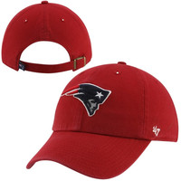 New England Patriots '47 Brand Cleanup Adjustable Hat – Red
