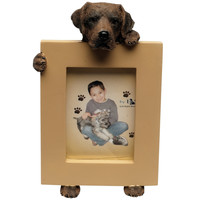 Chocolate Labrador Puppy Holding Frame Small Picture Frame