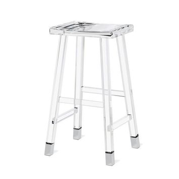 Reva Bar Stool in Nickel