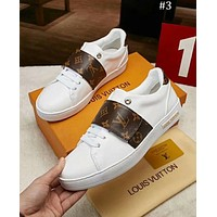 LV x Supreme co-branded fashion casual sports white shoes men's shoes #3