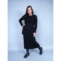 Rimini Knitted Black Skirt