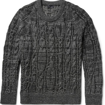 Lanvin - Cable-Knit Stretch Wool-Blend Sweater | MR PORTER