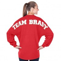 Team Brady Football - Tom Brady NFL Fan ❤ - Women's Long Sleeve V-Neck Spirit