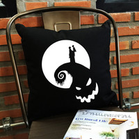 Nightmare Before Christmas throw pillow cover, Halloween Throw Pillow cover, Funny Gifts, Funny pillow cover, pumpkin pillow cover