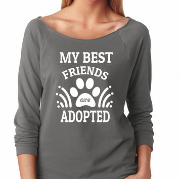 My Best Friends Are Adopted Raglan Shirt