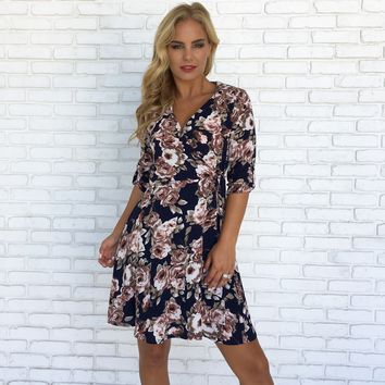 Bloom Me Away Floral Wrap Dress