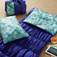 Ruched Sleeping Bag + Pillowcase - Dark Purple
