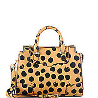 Rebecca Minkoff - Small Amorous Dot-Print Leather Satchel - Saks Fifth Avenue Mobile