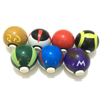 7colors 3levels Herb Grinder Weed  Metal Zinc Alloy Smoke Tobacco Crusher for Water Pipe Hookah Drop Ship Pokemon Go Pokeball