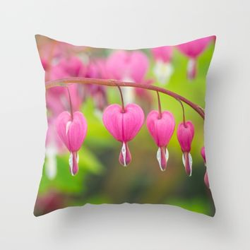 Bleeding Heart Throw Pillow by Kristopher Winter