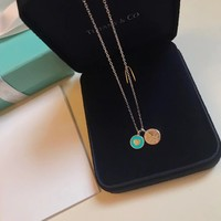 Tiffany & Co. Women Fashion Heart type round double necklace