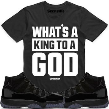KING GOD Sneaker Tees Shirt - Jordan 11 Cap Gown