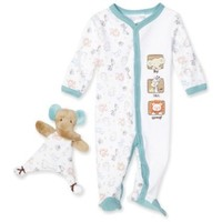 Vitamins Baby-boys Newborn Jungle Sleep and Play with Blankie Buddy