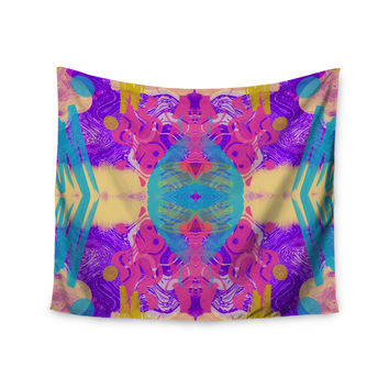 "Vasare Nar ""Glitch Kaleidoscope"" Pink Purple Wall Tapestry"