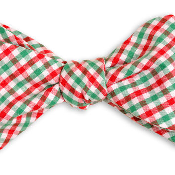 ChristmasTattersall Bow Tie by High Cotton