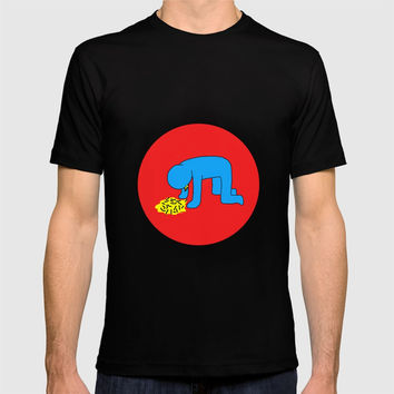 Keith Haring style - Too much alcohol - Funny Illustration Pop Art T-shirt by Estef Azevedo