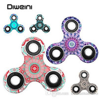 Mandala FLower Fidget Spinner Quality EDC Hand Spinner For Autism and ADHD Rotation Time Long Anti Stress Toys Kid Gift
