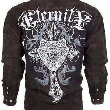 Licensed Official Eighty Eight AFFLICTION Mens BUTTON DOWN SHIRT Express Roar UFC Jeans $68 (11)