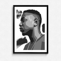 Kendrick Lamar illustration poster // Kendrick rapper poster artwork kendrick quote rapper ya bish kendrick hip hop rapper singer song