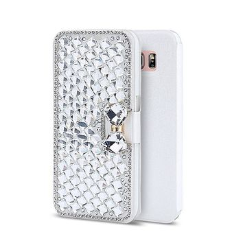3D Bling Crystal Wallet Phone Case Cover For Samsung Galaxy S4 S5 Note2 Note3