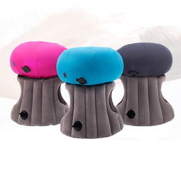 U-miss Students Diverse Innovative Inflatable Travel Neck Pillow On Airplane Footrest Flight Nap For Kids Sleeping Easy