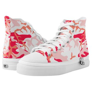 Super Cool and Stylish Pink Camouflage Printed Shoes