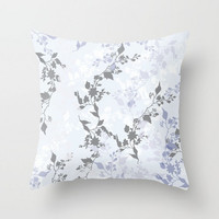 Decorative Throw Pillow - Different sizes to choose from, Without, Inserts, Indoors, Outdoors, Square, White, Grey, Floral, Pattern, Classic