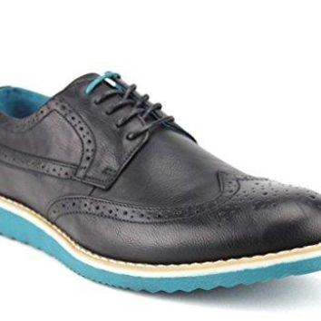 New Men's C-1501 Wing Tip Contrast Sole Lace Up Loafer Shoes