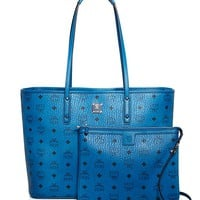 MCMAnya Logo Zip Medium Shopper Tote