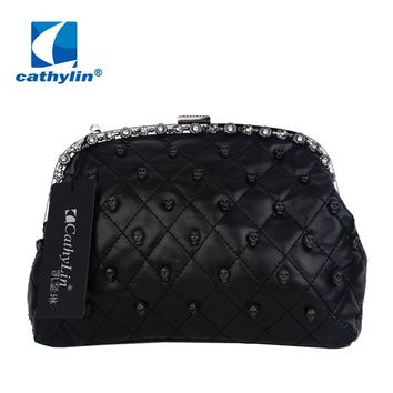 Hot Sale Skull Rivet Decorative Women's Shoulder Bags Fashion Frame Bag Quilted Messenger bags