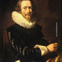 Abraham de Vries Self Portrait painting for sale and frame, painting - $95.00