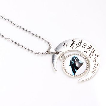 US Football Carolina Panthers Necklace Sport Necklace I Love You to moon and back Pendant with 60cm Chains Necklace Jewelry