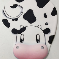 Harvest Moon cute kawaii moomoo cow zelda lon lon ranch silicone oppai gel wrist rest mousepad gamecube DS 3DS Wii N64