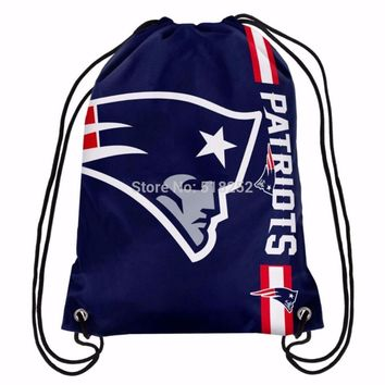 New England Patriots Drawstring Backpack Bags 30x45cm Sports Team,free shipping
