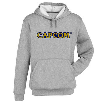 capcom Hoodie Sweatshirt Sweater Shirt Gray and beauty variant color for Unisex size