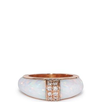 Diamond, opal & rose-gold ring | Jacquie Aiche | MATCHESFASHION.COM UK