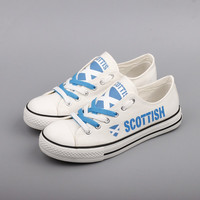 Scottish Flag Pride Low Top Canvas Shoes Custom Printed Sneakers