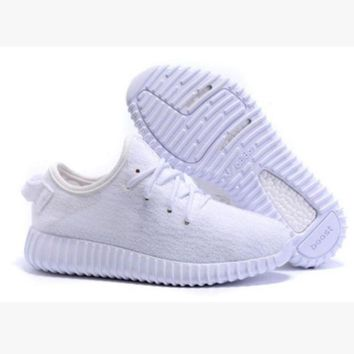 PEAPFN Fashion 'Adidas' Yeezy Boost Solid color Leisure Sports shoes Whtie T