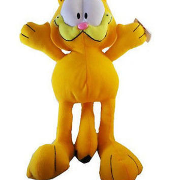 "Garfied 17""-19"" Orange Cat Plush Doll Soft Stuffed Toy Figure Cartoon Network"