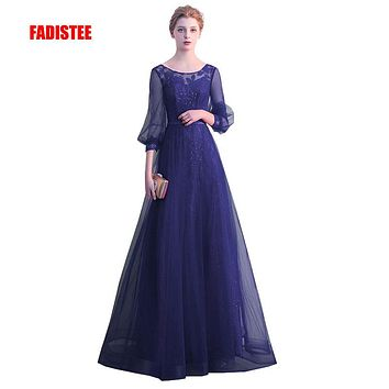 FADISTEE New arrival Gorgeous style dress evening dresses Vestido de Festa A-line three quarter sleeves gown prom lace style