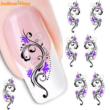 Newly Design Women DIY Nail Stickers Water Transfer Slide Decal Sticker Nail Art Tips Toe DecorationNov3 Drop Shipping