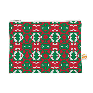 "Empire Ruhl ""Christmas Geo"" Red Green Everything Bag"