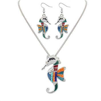 Fashion Beautiful Horse Gold/Silver Plated Multicolor Necklaces Animal