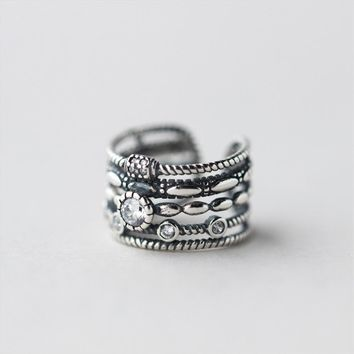 Punk Ring Real 925 Silver Anillos Jewelry Vintage Charm Boho Minimalism Best Friend Gift Haut Femme Bague Femme Rings for Women