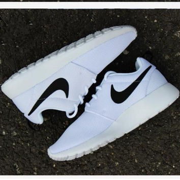"""NIKE"" Trending Fashion Casual Sports Shoes Contrast White"
