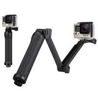 Waterproof Go Pro Tripod 3 Way Monopod Grip For Gopro Hero 5 3+ 4 Session Xiaoyi 4K SJCAM SJ4000 Camera Go Pro 5 Accessorios